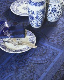 Nappe Porcelaine bleue Le Jacquard Français