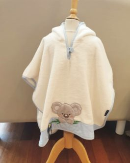 Poncho Koala bleu
